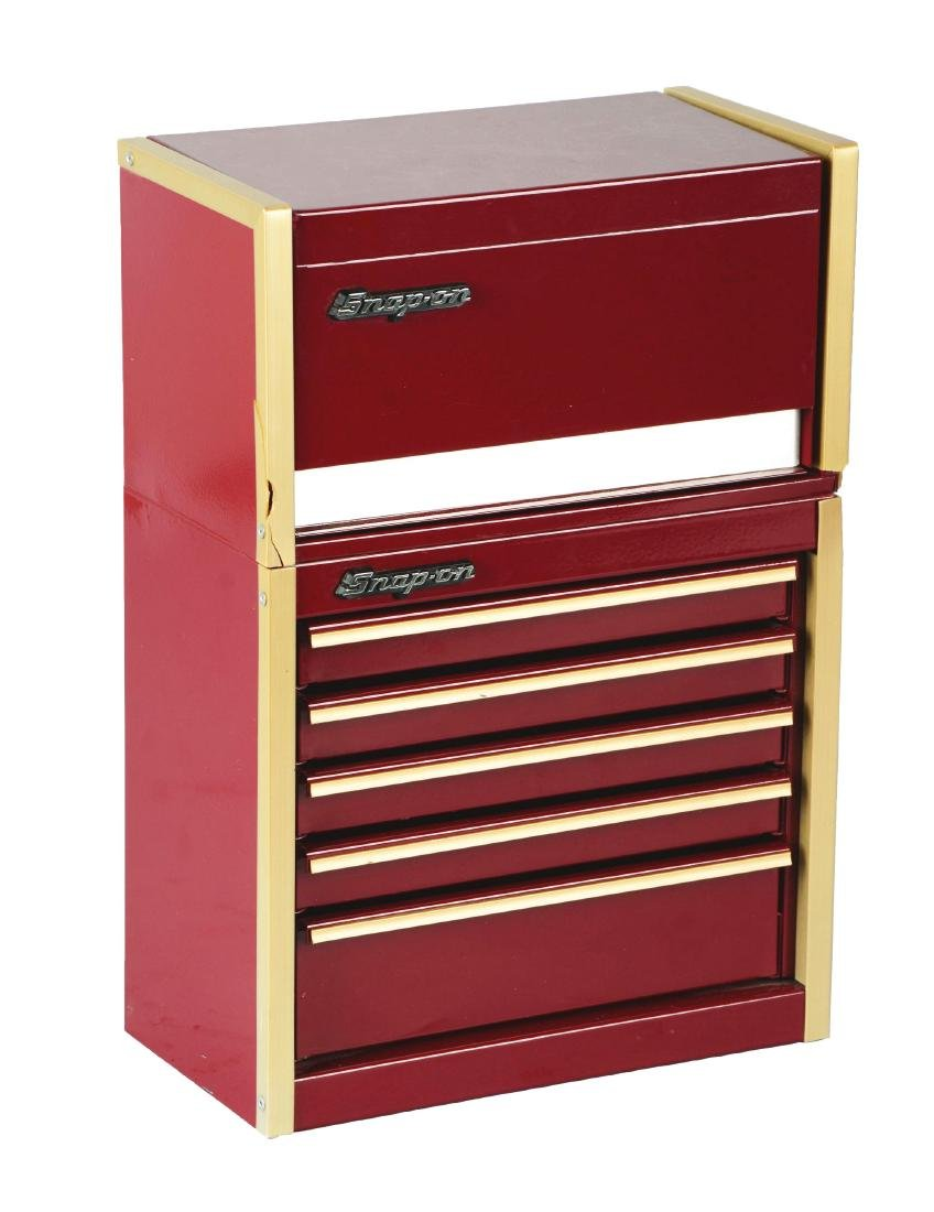 Salesman Sample Snap-On Tool Cabinet.