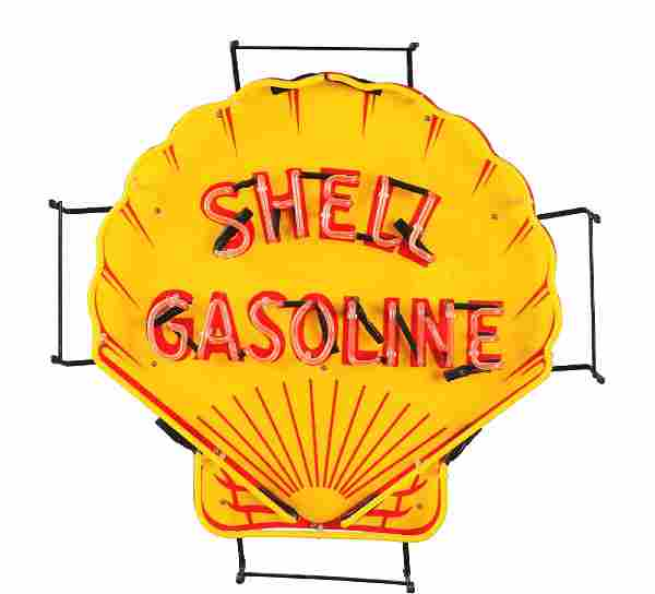 Shell Gasoline Neon Sign.