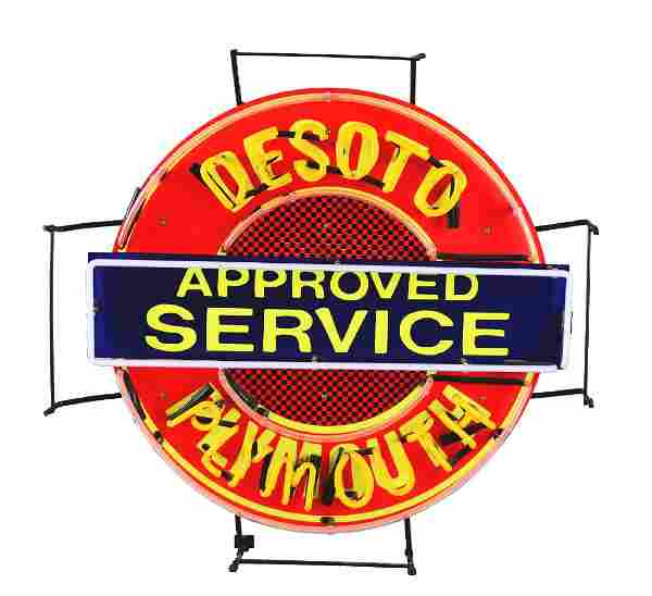 Desoto Plymouth Approved Service Neon Sign.