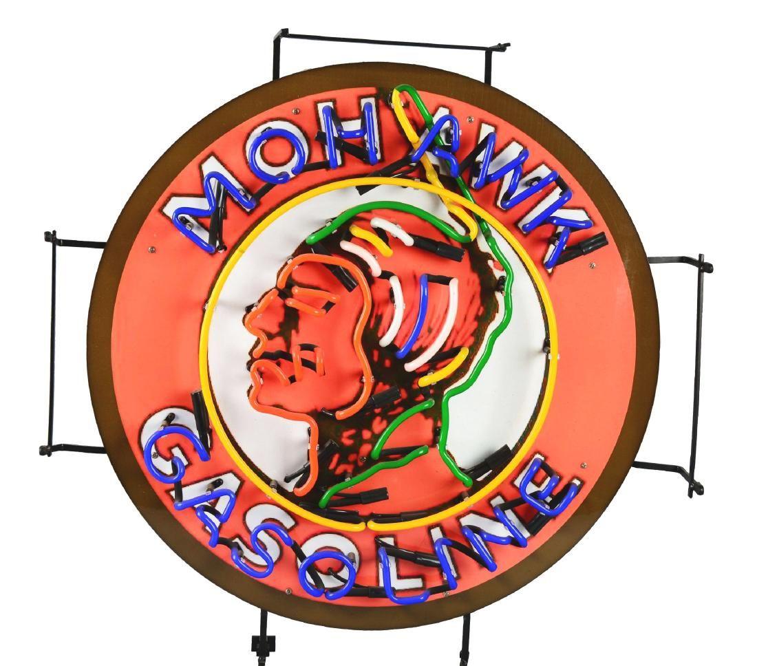 Mohawk Gasoline Neon Sign.
