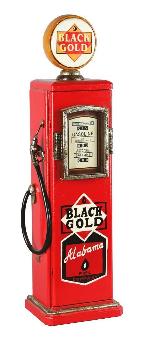 Miniature Black Gold Gas Pump.