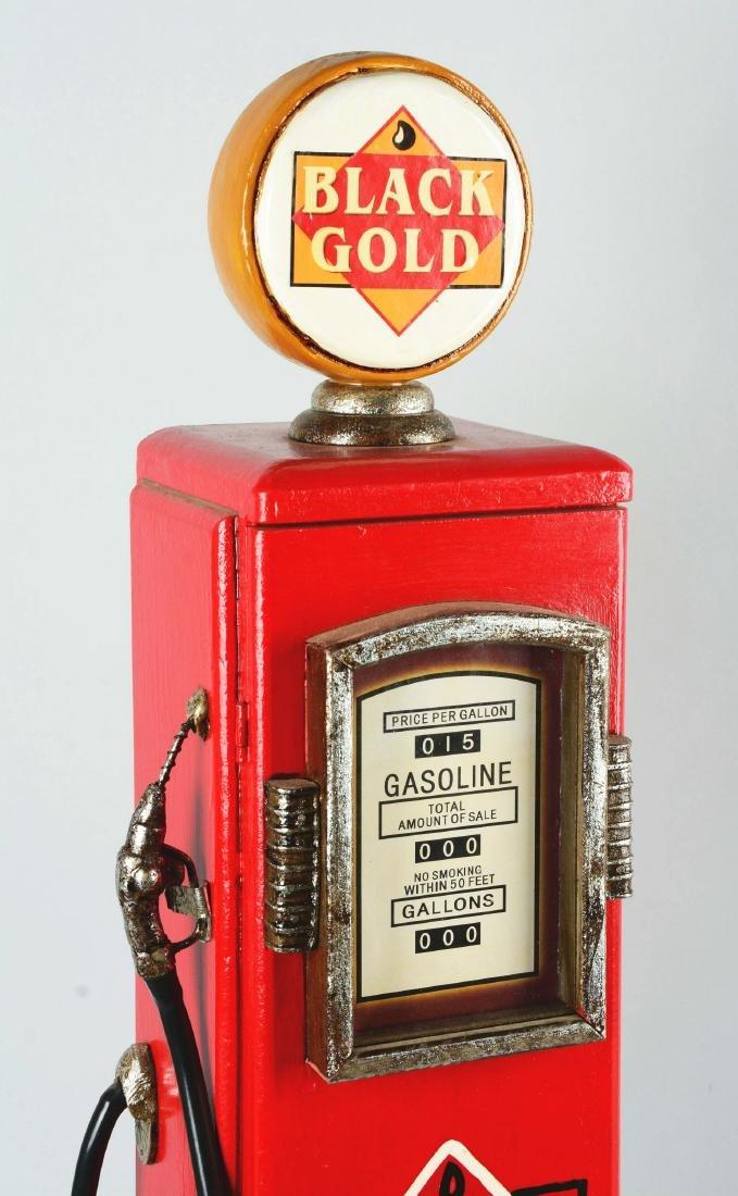 Miniature Black Gold Gas Pump. - 2