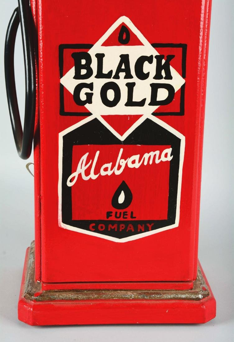 Miniature Black Gold Gas Pump. - 3