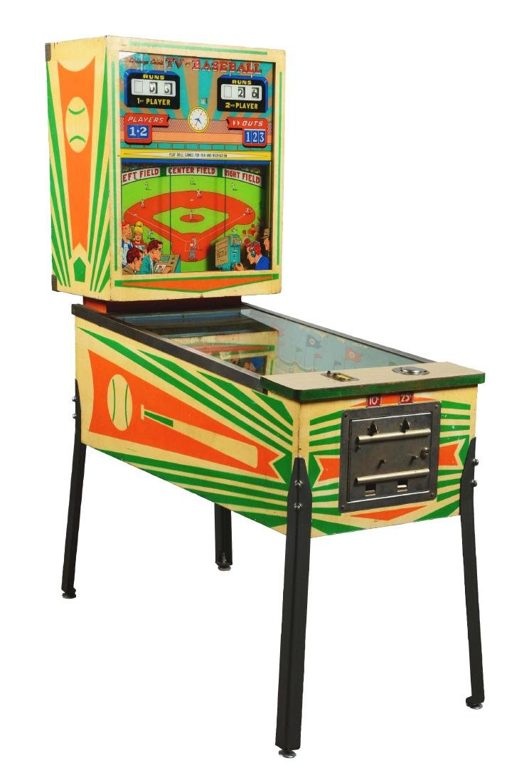 Multi Coin Chicago Coin Tv Baseball Arcade Game  # Table Tv En Coin