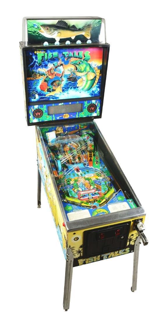 50¢ Williams Fish Tales Pinball Arcade Game.
