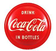 Drink Coca-Cola Button Sign.
