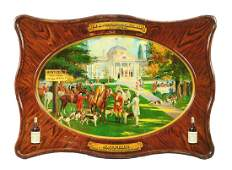 The Monticello Distilling Company Tin Sign.