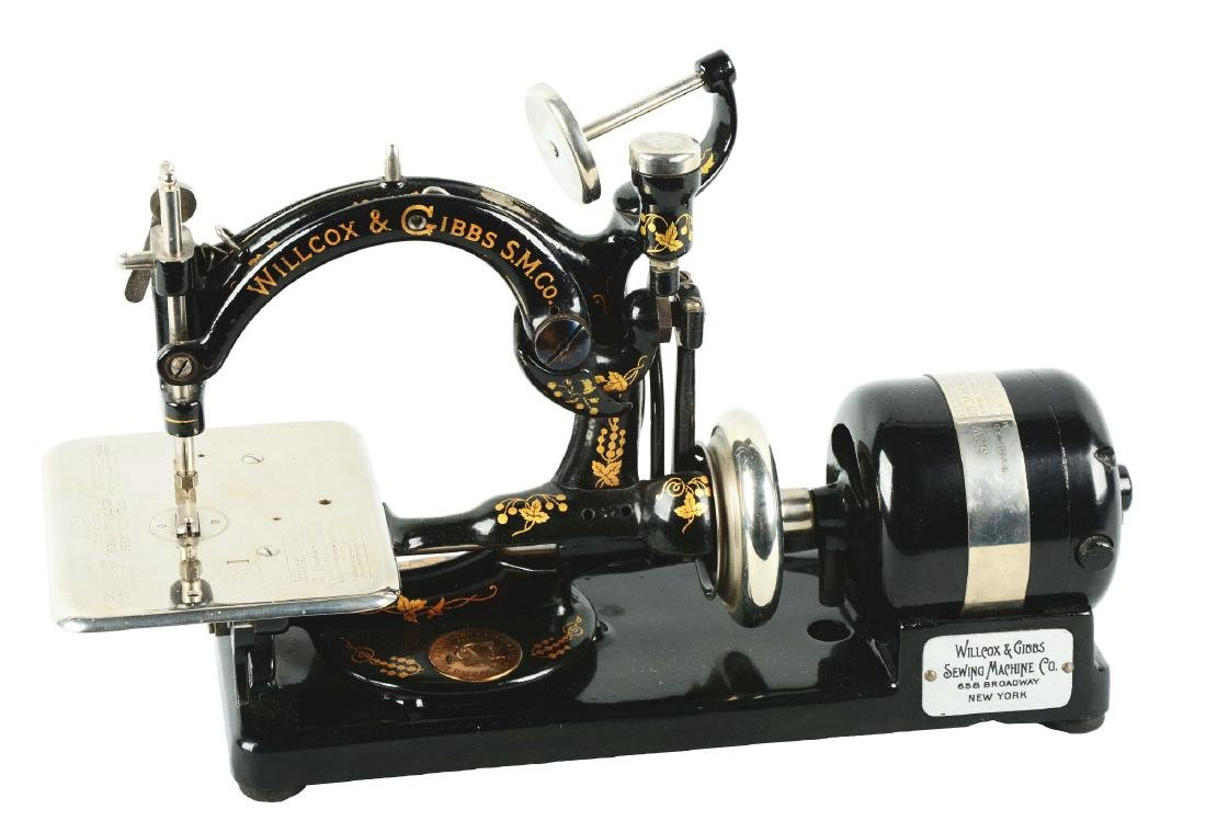 Willcox And Gibbs Electric Sewing Machine.
