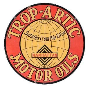 Manhattan Oil Co Trop Arctic Motor Oils Porcelain