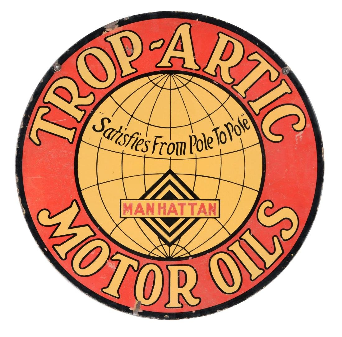 Manhattan Oil Co. Trop Arctic Motor Oils Porcelain