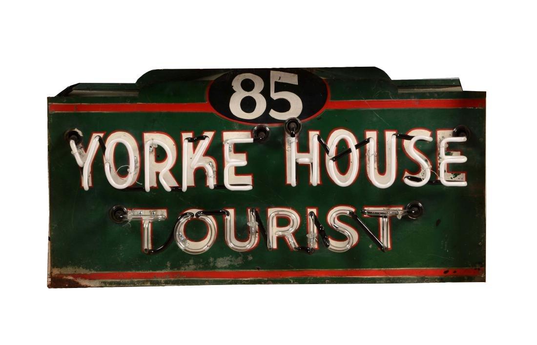 Yorke House Tourist Tin Neon Sign on Original Can.