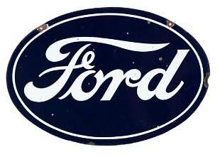 Ford Oval Porcelain Sign