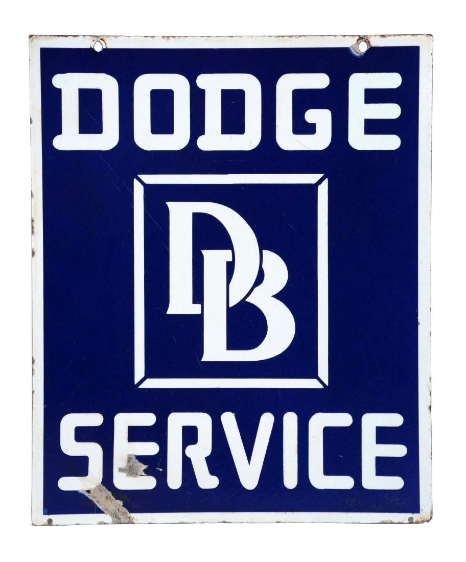 Dodge Brothers Automobile Service Porcelain Sign.