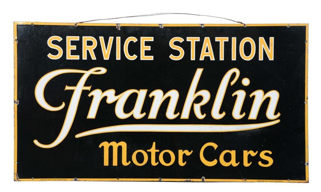 Franklin Motor Cars Service Station Porcelain Sign.
