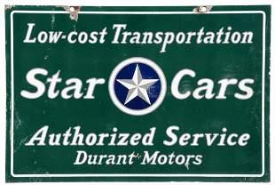 Star Cars Durant Motors Authorized Dealer Porcelain