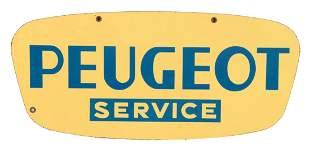 Peugot Service Porcelain Sign