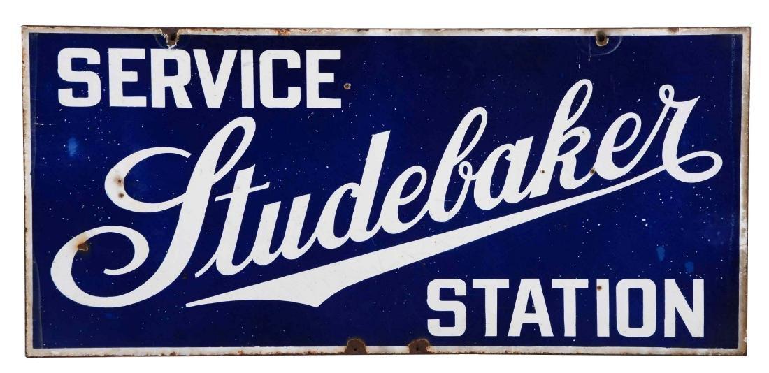 Studebaker Service Station Porcelain Sign.