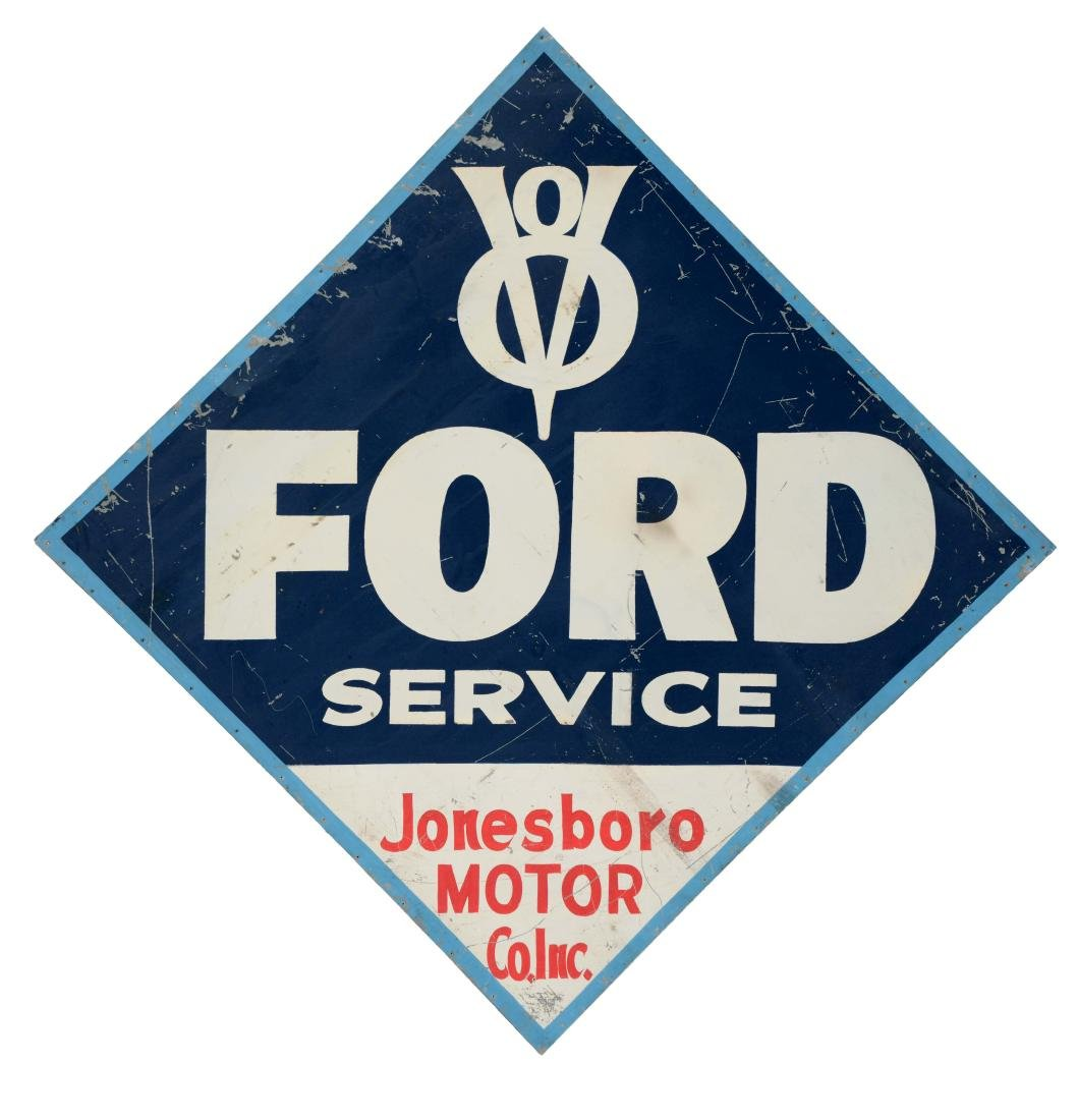 Ford V8 Service Painted Tin Sign.