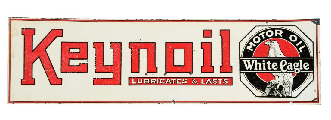 Keynoil Motor Oil Embossed Tin Sign.