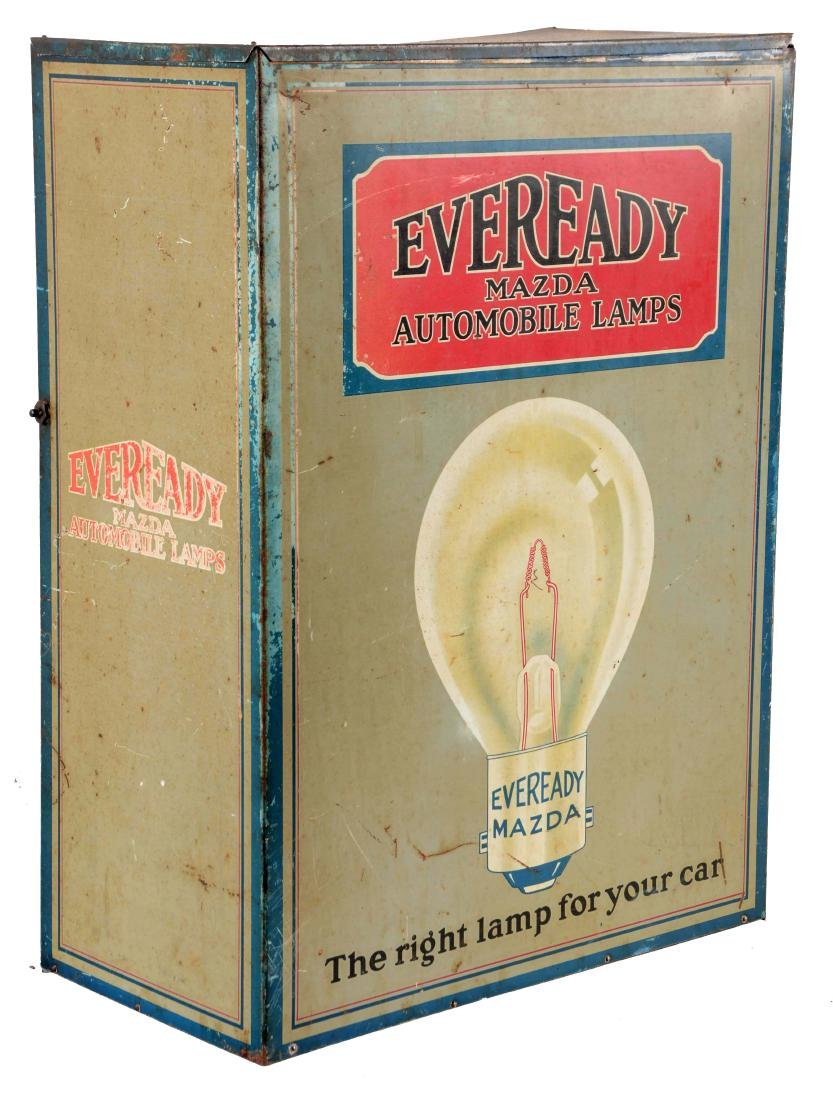 Eveready Mazda Lamps Store Display Parts Cabinet.