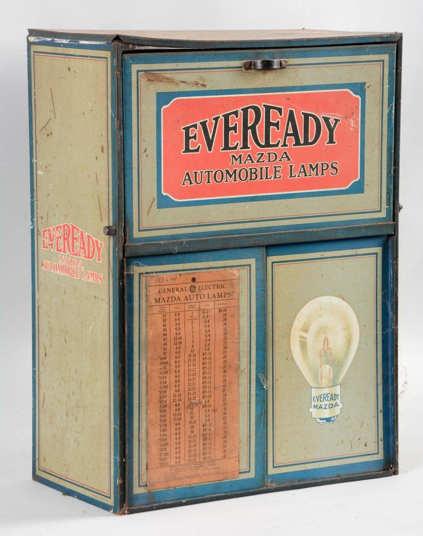 Eveready Mazda Lamps Store Display Parts Cabinet. - 3