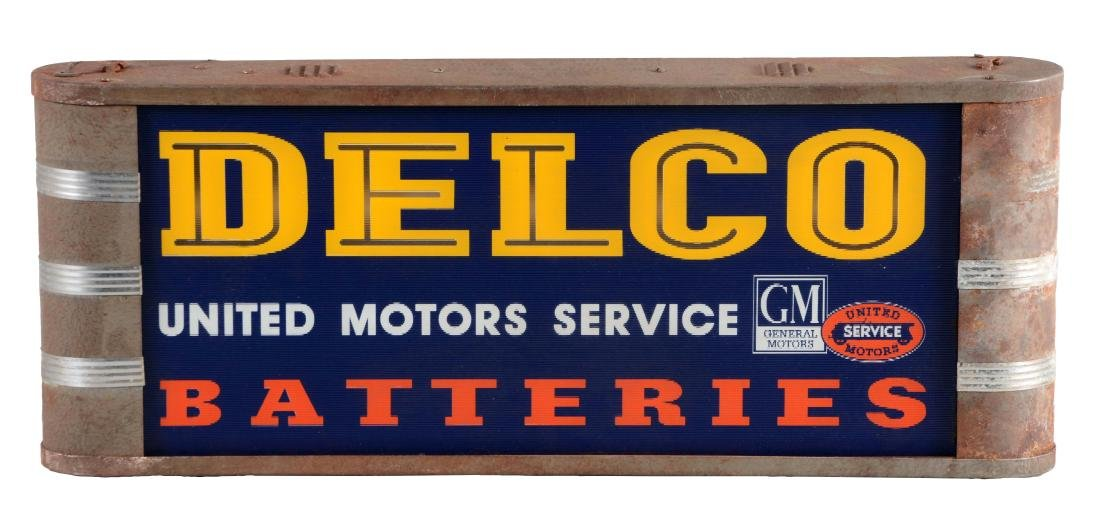 Delco Batteries & United Motor Service Light Up Store