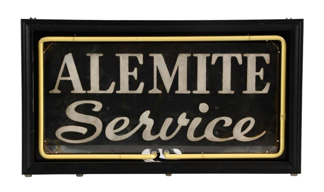 Alemite Service Neon Counter Top Store Display .