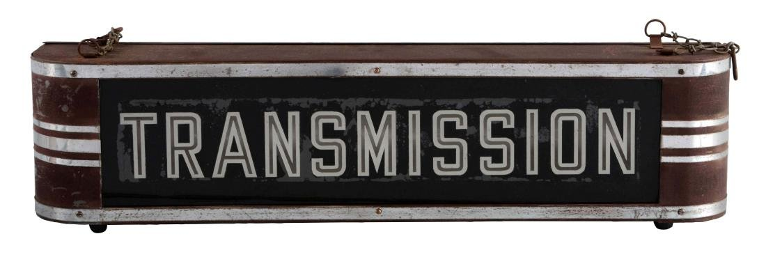 Transmission Service Reverse Glass Light Up Sign in