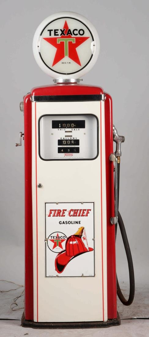 Tokheim #300 Gas Pump Restored in Texaco Fire Chief - 3