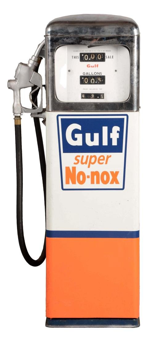 Dayton 1420 Gas Pump in Gulf Colors.