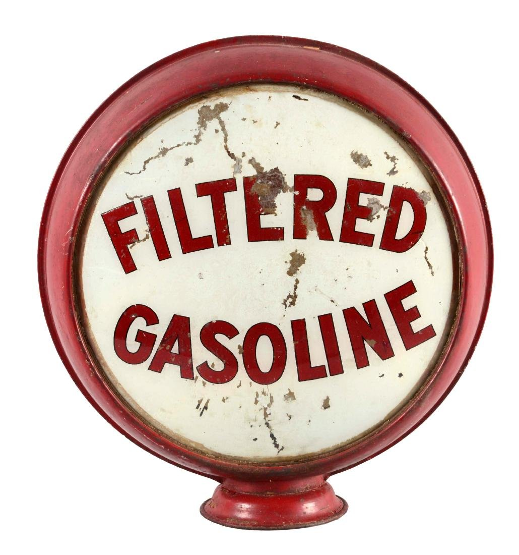 "Filtered Gasoline Non Fired Complete 15"" Globe."