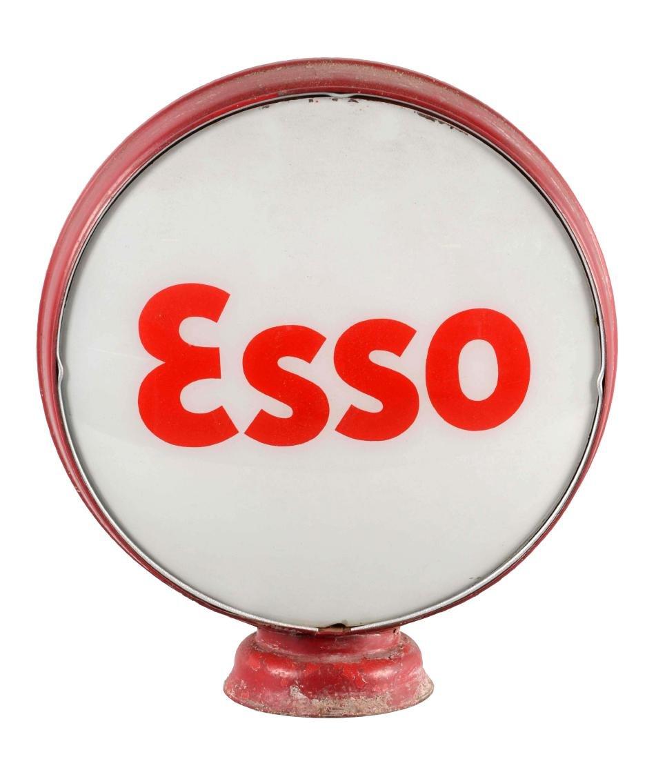 "Esso Gasoline 15"" Complete Globe On Metal Body."