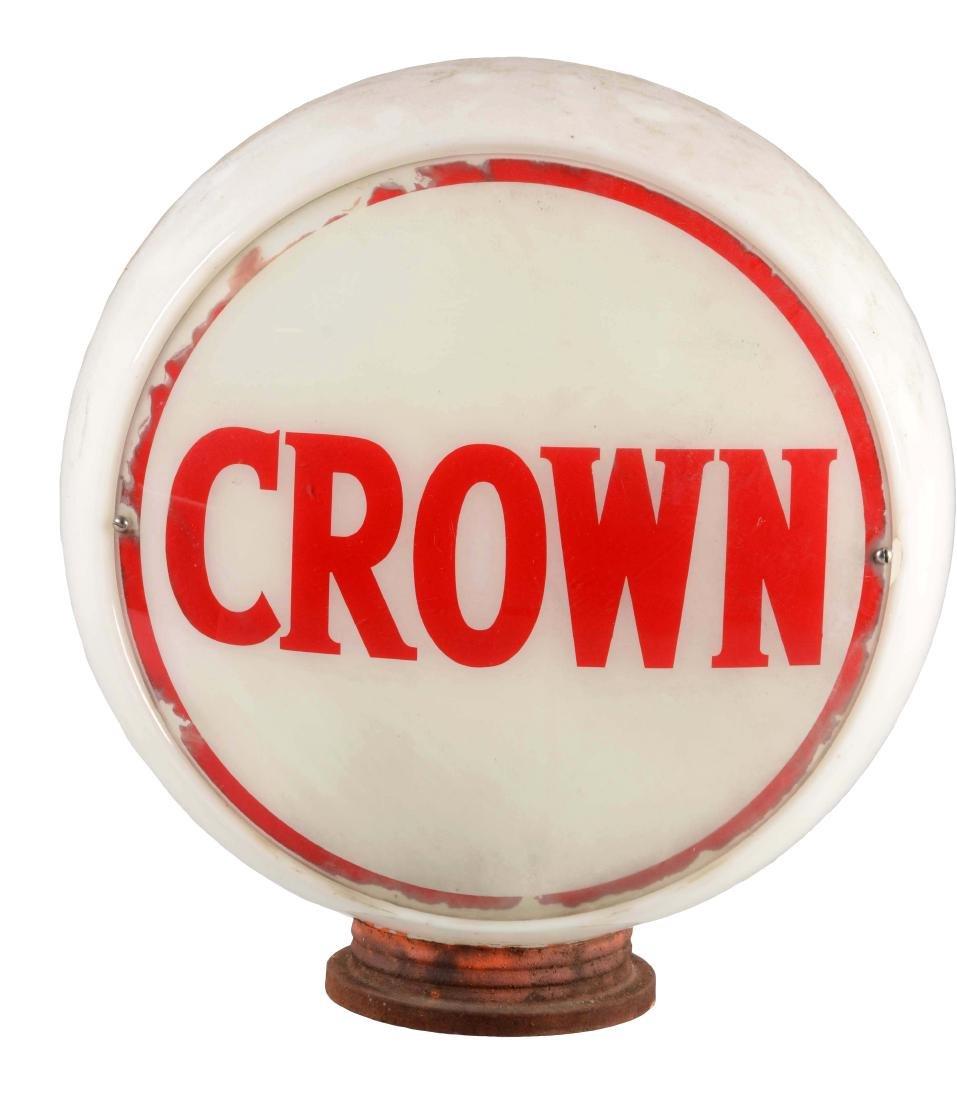 "Crown Gasoline Complete 13-1/2"" Globe On Wide Milk"