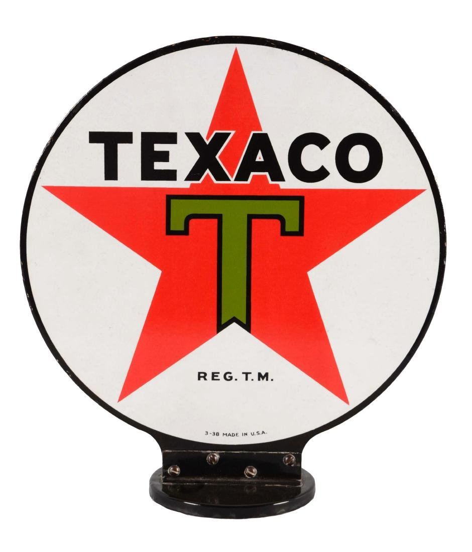 Texaco Porcelain Gas Pump Globe Sign.