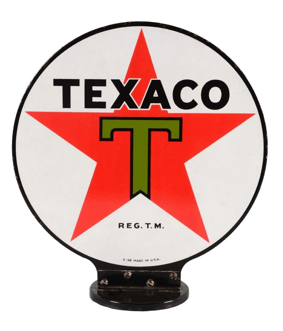 Texaco Porcelain Gas Pump Globe Sign.
