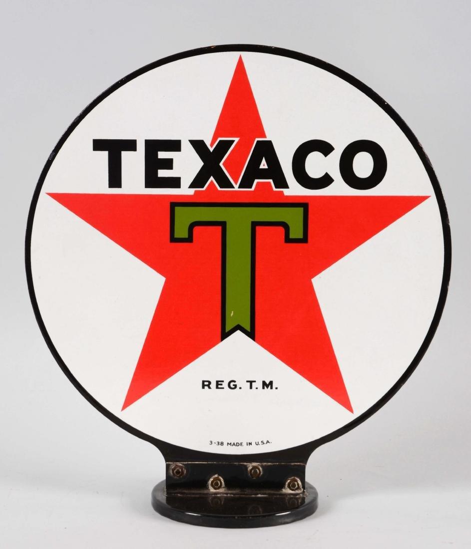 Texaco Porcelain Gas Pump Globe Sign. - 2