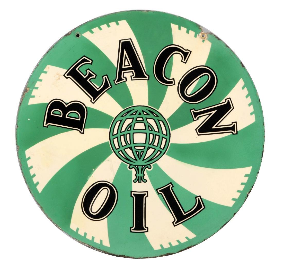 Beacon Motor Oil Porcelain Sign.
