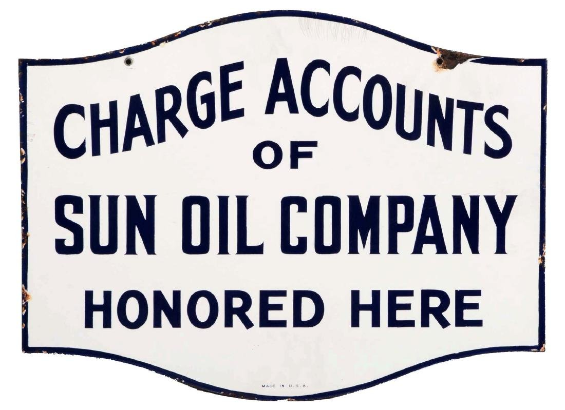 Sun Oil Company Charge Accounts Honored Diecut