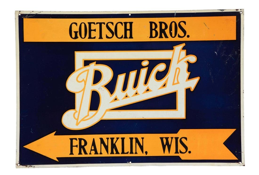 Buick Dealer Embossed Tin Sign.