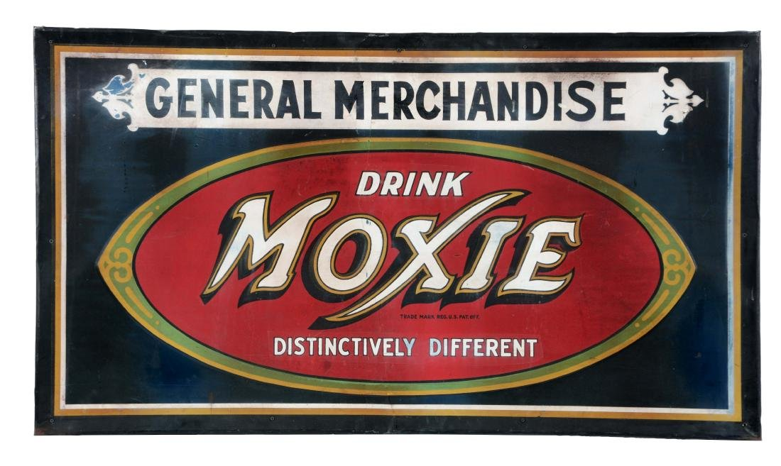 Moxie Soda Pop Embossed Tin General Store Sign