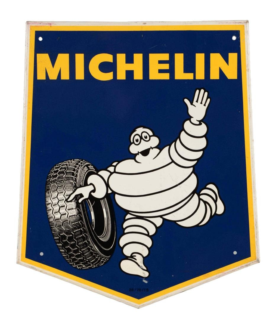 Michelin Tires with Bibendum Graphic Sign.