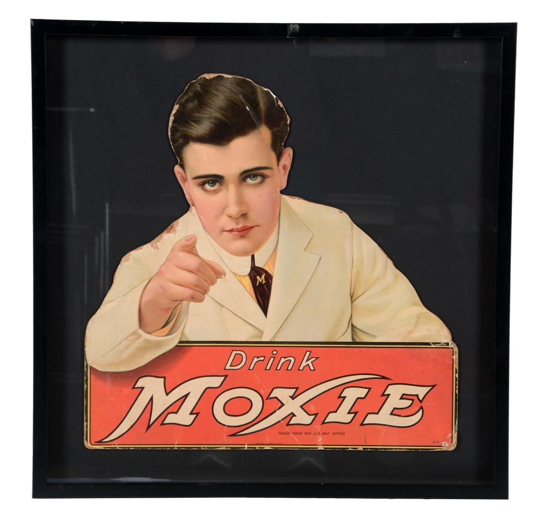 Moxie Soda Pop Diecut Cardboard Pharmacist Store