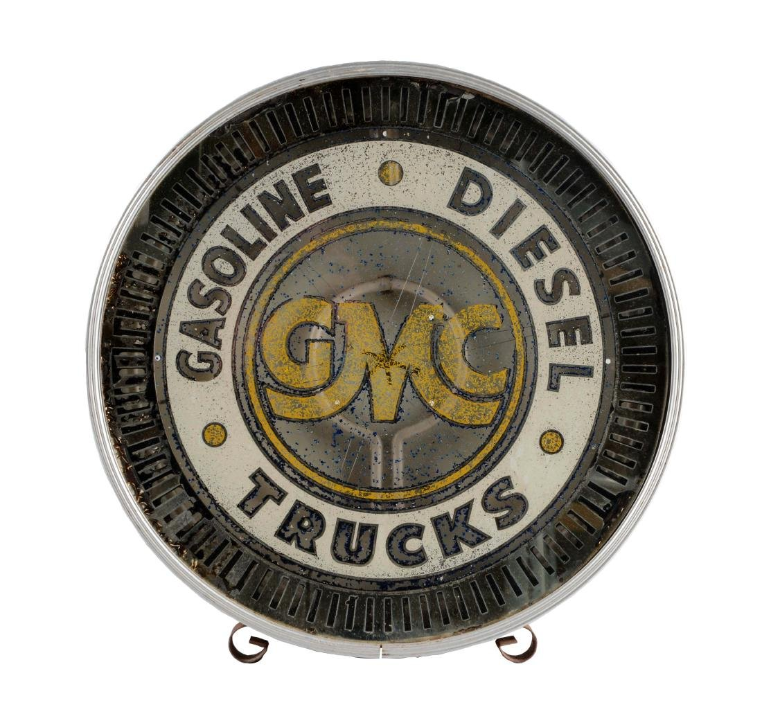 GMC Gasoline & Diesel Glass Face Neon Store Display.