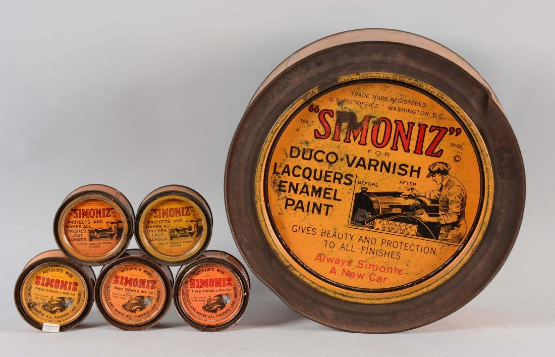 Large Simoniz Enamel & Lacquer Can Store Display with