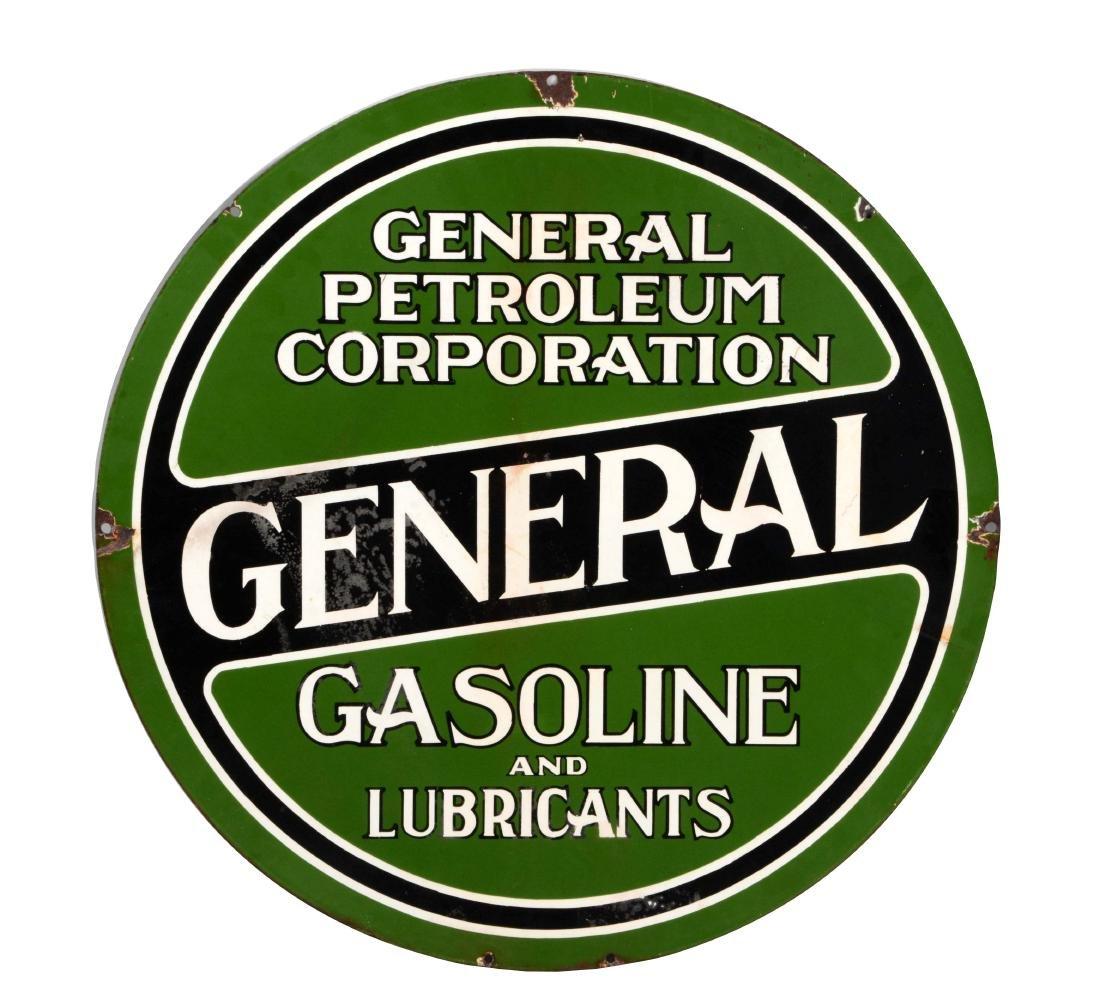 General Gasoline & Lubricants Porcelain Sign.