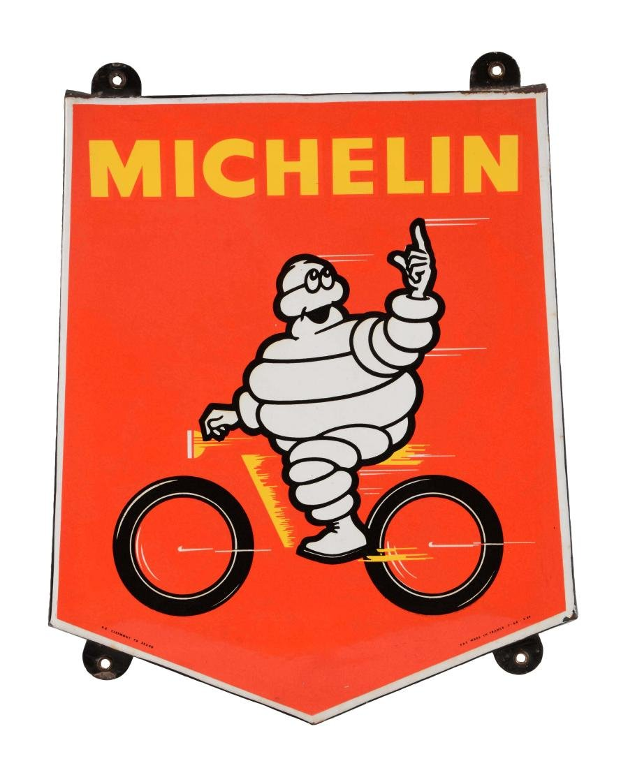 Michelin Tires Sign with Bibendum Graphic.