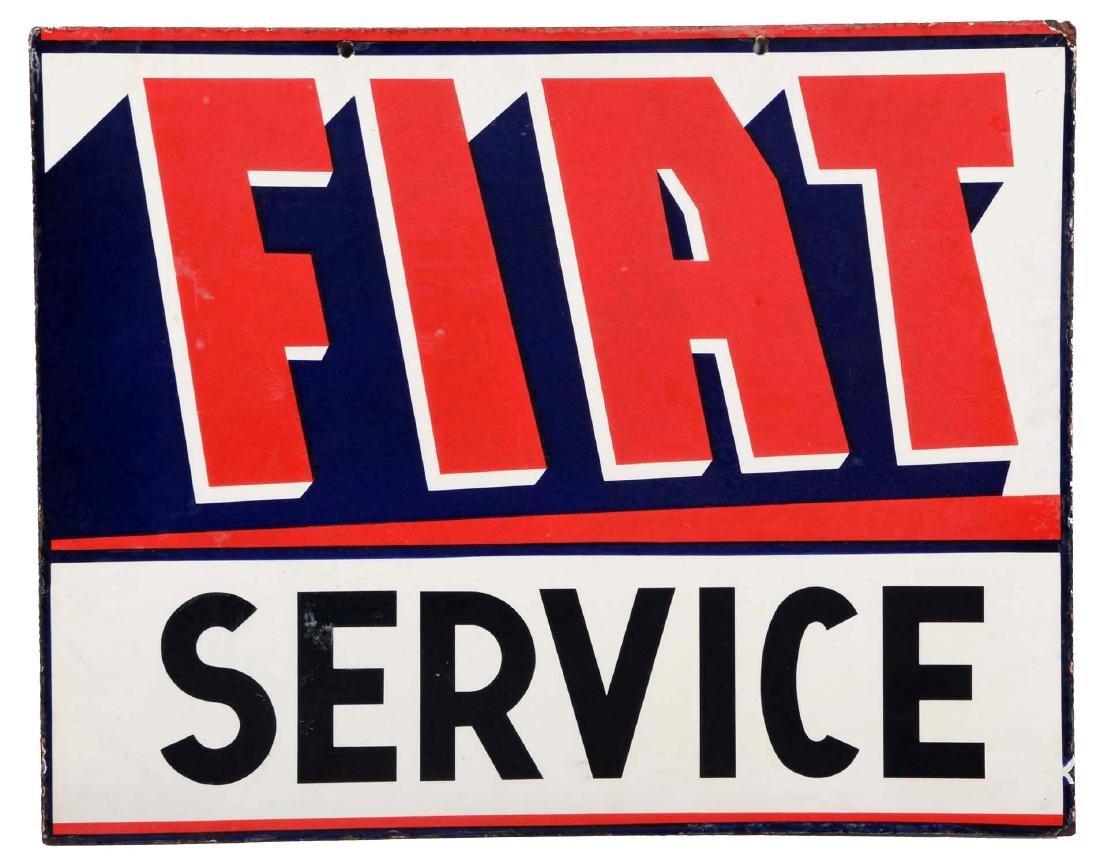 Fiat Service Porcelain Sign.