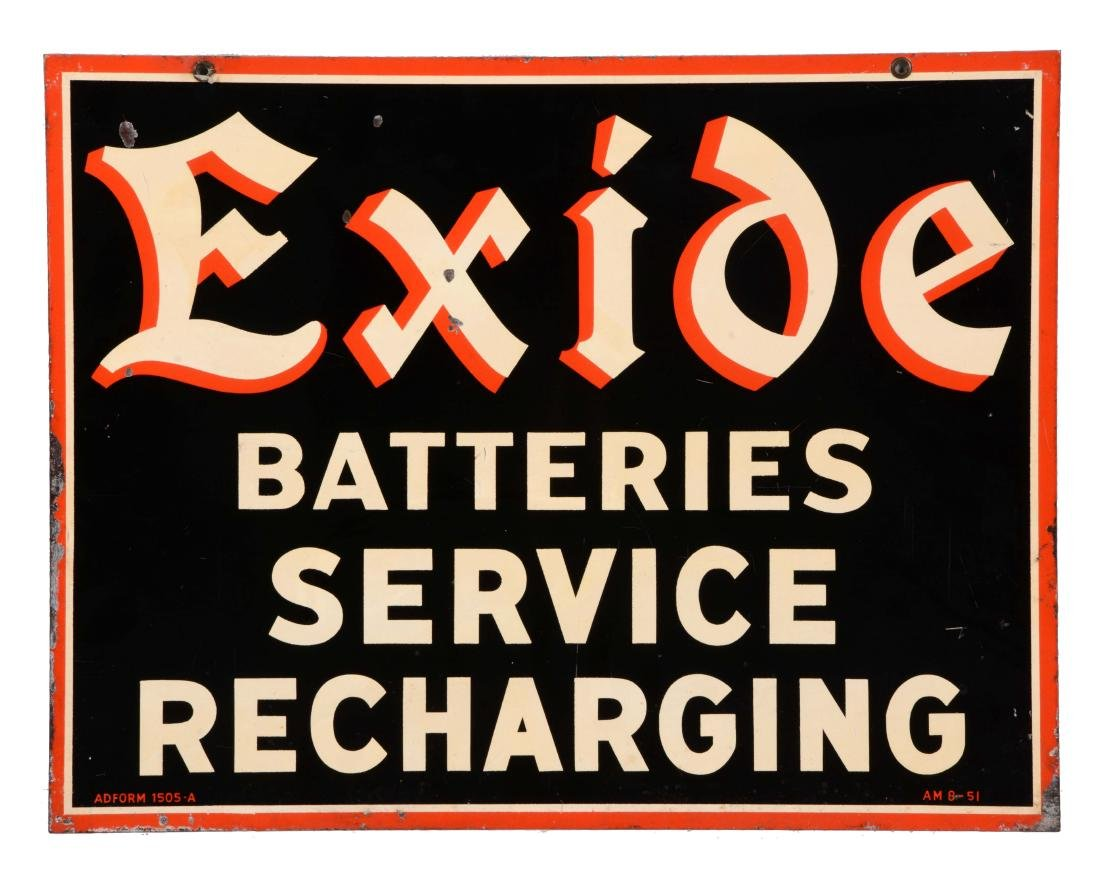 Exide Batteries Service Tin Sign.