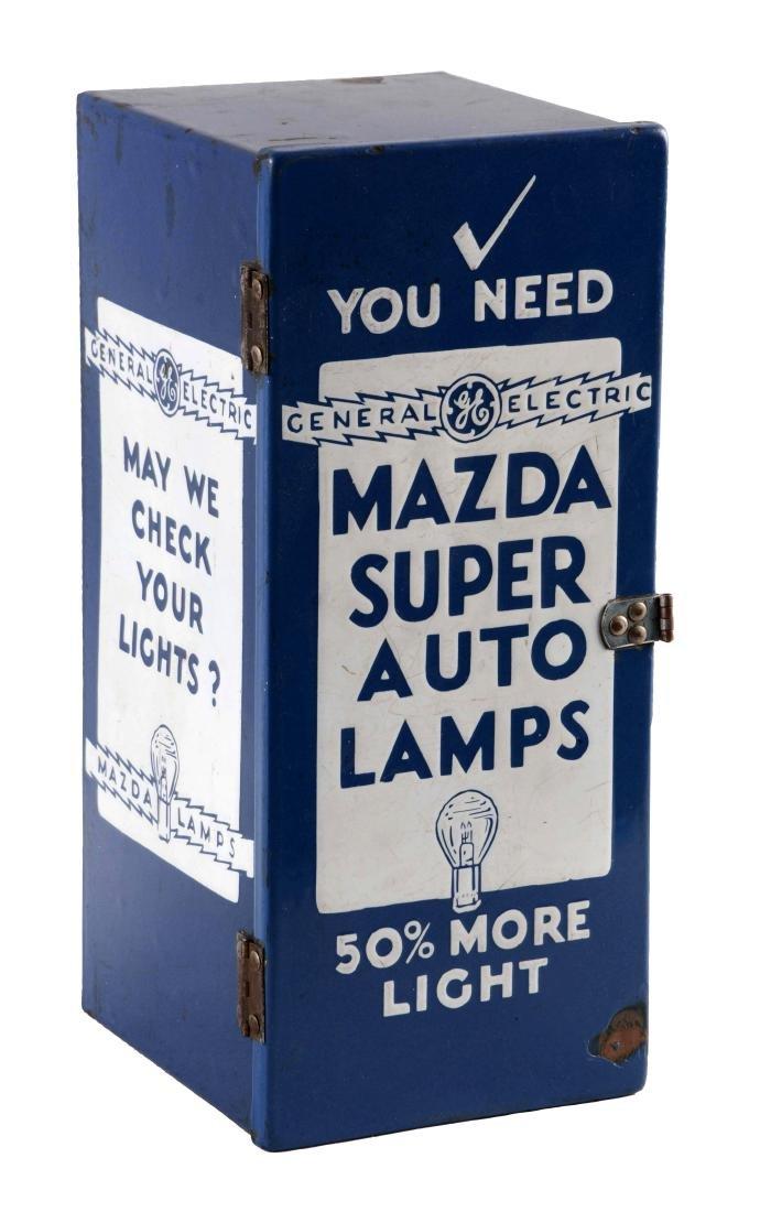 Mazda Auto Lamps Porcelain Parts Cabinet.