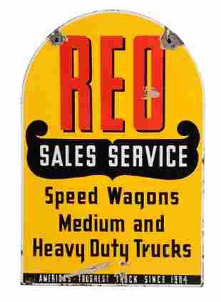 REO Sales Service Porcelain Dealership Sign